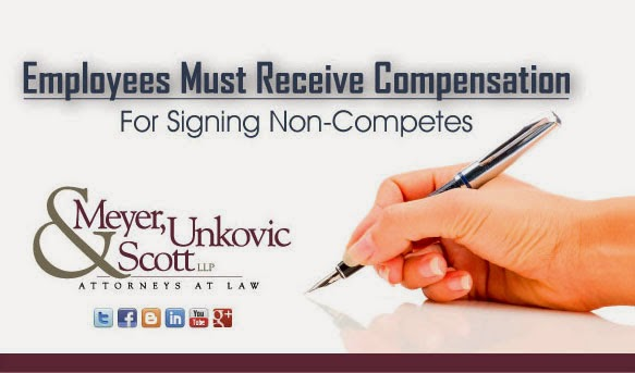 Compensation For Signing Non Competes Mus Law